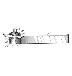 Lathe tool vintage vector