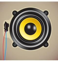 loud speaker vector image vector image