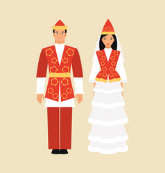 national costume of kyrgyzstan vector image