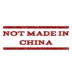 Not made in china watermark stamp vector