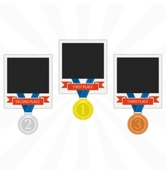 Photo frames with medals vector image vector image