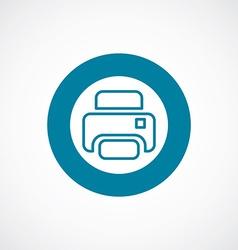 printer icon bold blue circle border vector image vector image