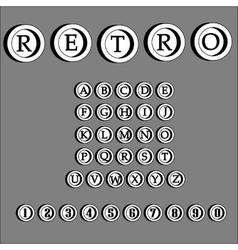 Retro alphabet font abc letters vector
