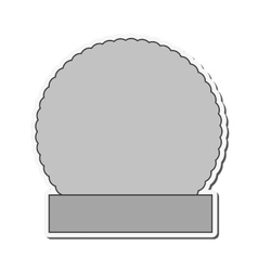 round badge icon vector image vector image