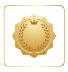 Seal award gold icon Blank medal vector image vector image