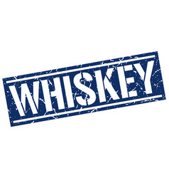 Whiskey square grunge stamp vector