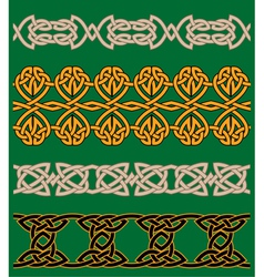 Celtic embellishments and ornaments vector