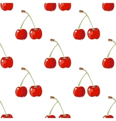 Red cherry seamless background vector