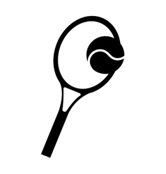 Racket tennis sport equipment icon vector