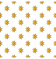 Eight pointed star pattern cartoon style vector