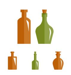 Old retro medicine bottle icon vector