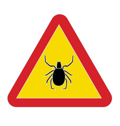 Sign warning tick disease vector
