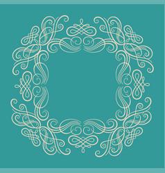 Ornament element vintage frame design template vector