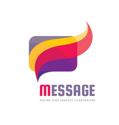 Message - creative background vector
