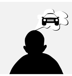 man dreaming about car vector image