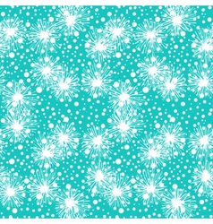 Pattern with small flowers pompoms or snowflakes vector