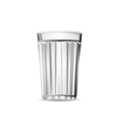 Facet glass tumbler isolated vector