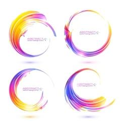 Set of colorful circle abstract frames vector image