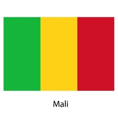Flag of the country mali vector