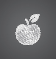 Apple sketch logo doodle icon vector