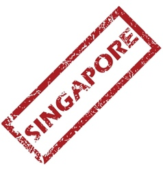 New singapore rubber stamp vector