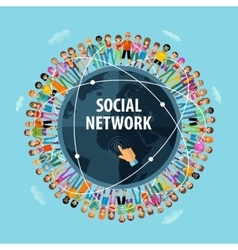 Social network logo design template people vector