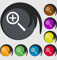 Magnifier glass zoom tool icon sign symbols on vector