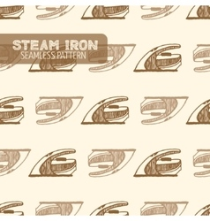 Smoothing iron vintage style vector