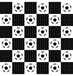 Football ball black white chess board vector