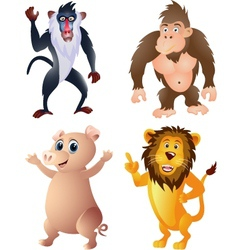 Animal collection vector