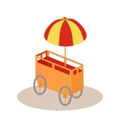 Ice-cream trolley isometric icon vector