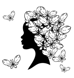 Hairstyles silhouette vector