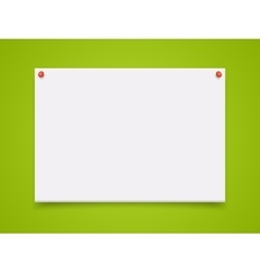 A4 mockup isolated on green background vector
