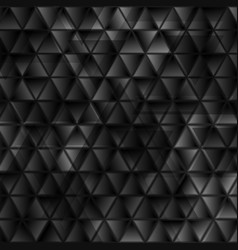 Abstract tech black glossy triangles geometric vector