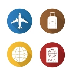 Air travel icons vector