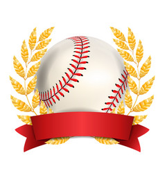 baseball award sport banner background vector image vector image