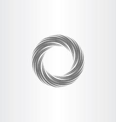 Black circle wave background design element vector