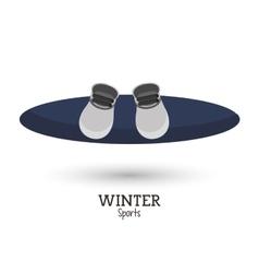 Blue snowboard winter sport vector