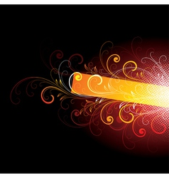 bright designs on black vector image vector image