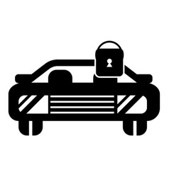 car locked icon simple style vector image vector image