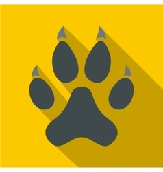 Cat paw icon flat style vector