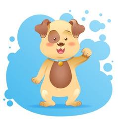 Cute cartoon dog toy card vector image vector image