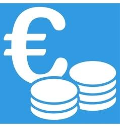 Euro coin stacks icon vector