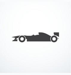 Formula car icon vector
