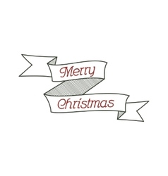 Happy Christmas typography wish sign vector image vector image