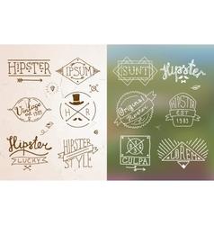 Hipster vintage emblem vector