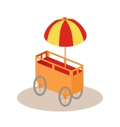 Ice-Cream Trolley Isometric Icon vector image vector image