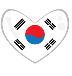 Isolated South Korean flag vector image vector image