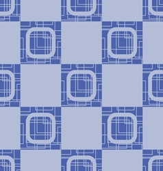 Light blue seamless geometrical pattern of squares vector