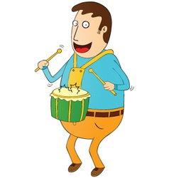 Man playing drum vector